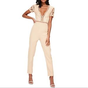 Misguided lace top jumpsuit